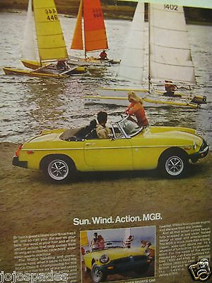 1978 MG Sun Wind Action MGB-MG Sports Car Original Print Ad 9 x 11""