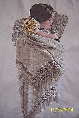 Beautiful Spanish Senorita:  Cross Stitch