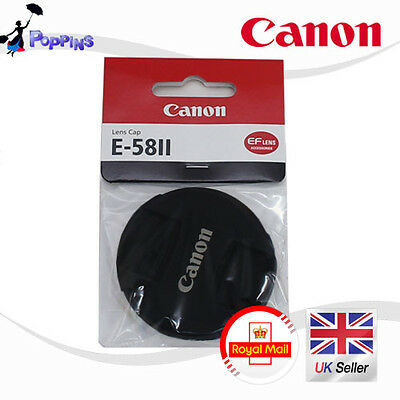 New Genuine Canon E-58II  E58 II Center Pinch Lens Cap 58 mm