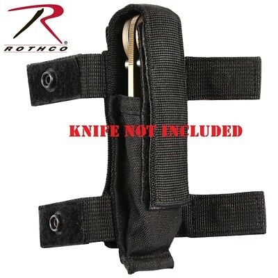 "Black Military Police Tactical 7"" Belt or MOLLE Knife Sheath Pouch 40066"