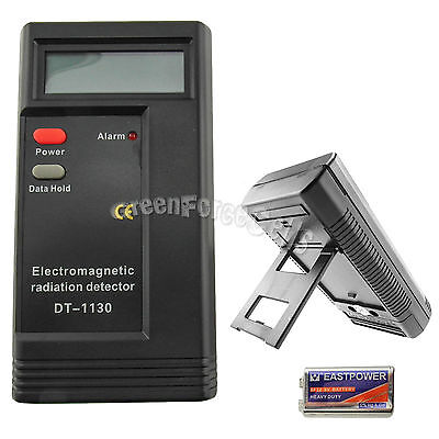 Electromagnetic Radiation Detector Digital LCD Meter Dosimeter Tester w/ Battery