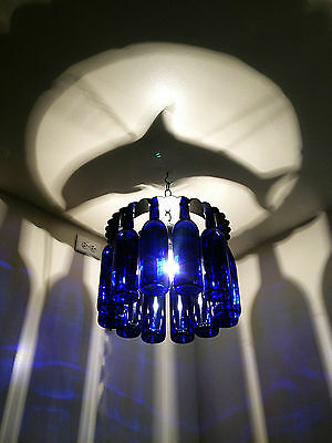 Unique DOLPHIN Bottle Shadow Chandelier Light Made in the USA