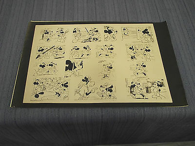 LOT OF 3 VINTAGE MICKEY MOUSE AND MINNIE MOUSE MODEL SHEETS DISNEY STUDIO COPIES