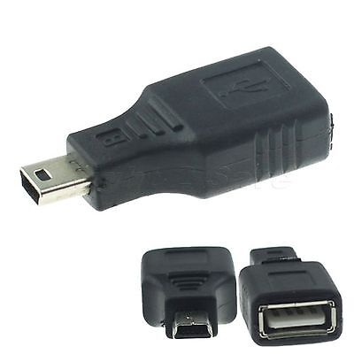 Network USB 2.0 A Female to Mini USB B 5 Pin Male Cord Cable Hub Adapter