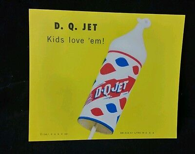 Vintage DAIRY QUEEN 1961 DQ jet  plastic ice Cream Wall Sign original drive in