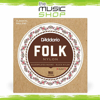 D'Addario EJ32 Folk Nylon Ball End Acoustic Guitar Strings - Daddario