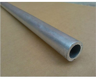 2pcs 6061 T6 Aluminum Seamless Tube OD 10mm ID 7mm Length 0.5m (1.64 ft) #EA-51