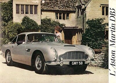 Aston Martin DB5 1963-65 Foldout Sales Brochure In French Coupe Volante