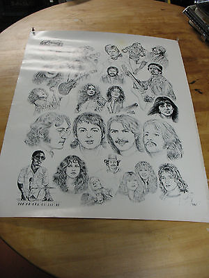 Poster  Rock  Super Stars  Limited Ed. May 29 1983 Large 23'' X 29''  Very Good