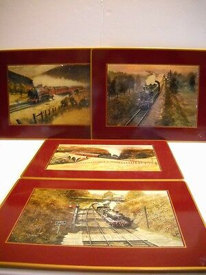 RARE~Set of 4~1970's Brook's Brothers Railway Trivets~Hand-Made in England