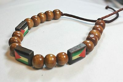 New Palestinian Bracelet - Adjustable Wood Beads Palestine Flags Wristband