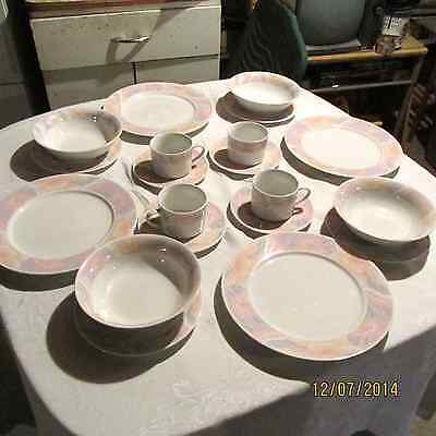 The Artland Collection Sarah China Pearl Fine China 4 Place Setting