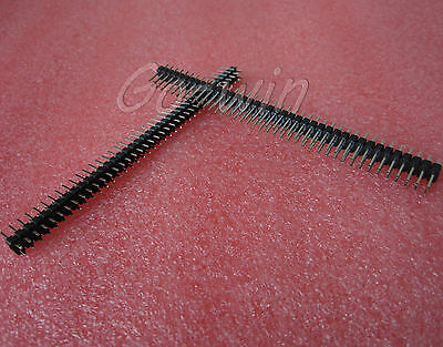 30PCS 2.54mm 2 x 40 Pin Male Double Row Pin Header Strip New High quality