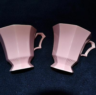 (2) Independence Ironstone Interpace Japan  Pink Coffee Cups