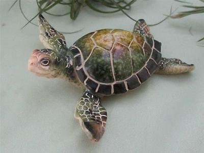 GREEN SEA TURTLE~Old Soul~RESIN~Realistic Sculpture