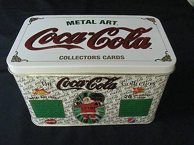 Set of 20 Coca Cola Metal Art Trade Cards in Decorative Tin