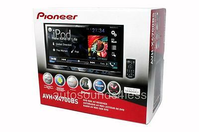 "NEW Pioneer AVH-X4700BS Double 2 DIN DVD/CD Player 7"" LCD Bluetooth Siris Eyes"