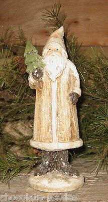 Belsnickle SANTA CLAUS Statue w/Christmas Tree*Primitive/French Country Decor