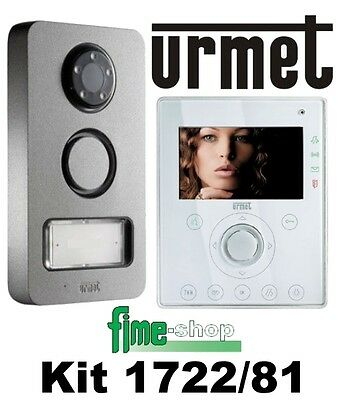 Urmet Kit Video 1722/81 2 Fili Videocitofonico Viva-Voce A Colori