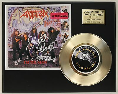 Anthrax Gold 45 Record Ltd Edition Signature Series  Ships Us Free