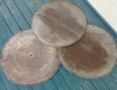 "3 Fortuna  or Adler O Antique Music Box Discs 18 1/2"" Take A Chance"