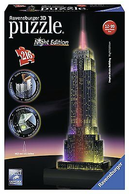 3D Puzzle Night Edition EMPIRE STATE BUILDING con Luci LED 216pz by RAVENSBURGER