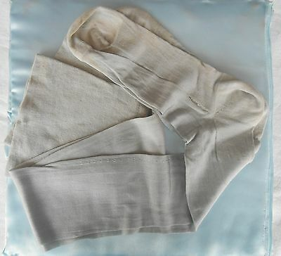Vintage Gray Stockings - Silk and Wool - 1920s Lingerie