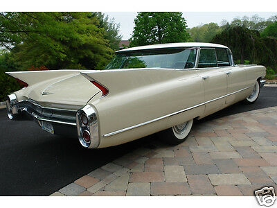 1960 Cadillac Sedan Deville, FLAT TOP, Refrigerator Magnet, 40 MIL THICK