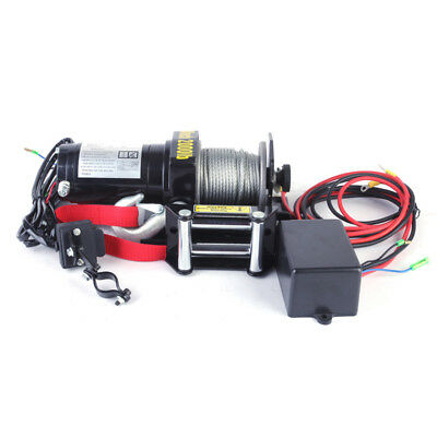 3000lb Electric ATV Winch 12V Rocker Switch Controller New