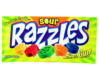 Razzles Sour Pouch American Bubble Gum 1.4 OZ (40g) from American Goodies