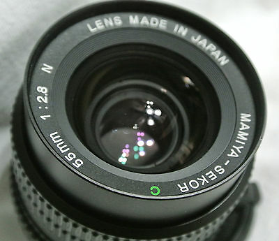 Mamiya 645 SEKOR C 55mm F/2.8 N lens with case