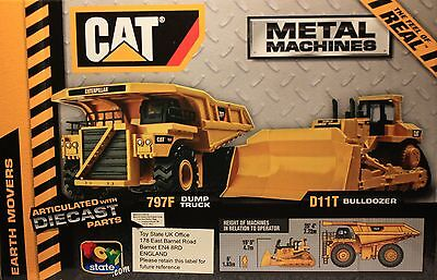 Caterpillar/CAT-Baumaschinen-Dump Truck-Bulldozer-Earth Movers-Diecast-neu/new