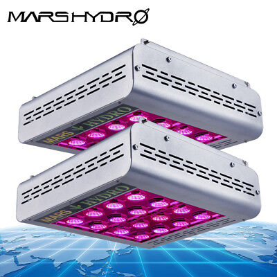 2x Mars II 1200W Led Grow Lights Full Spectrum Hydroponic Veg Flower Indoor Lamp