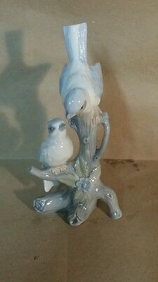 """Vintage Porcelain Figurine"" Blue Jay Birds Antique Bluejay"