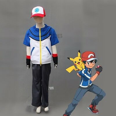 Ash Ketchum cosplay  Pokemon Pocket Monster BW-Ash Katchum cosplay costume