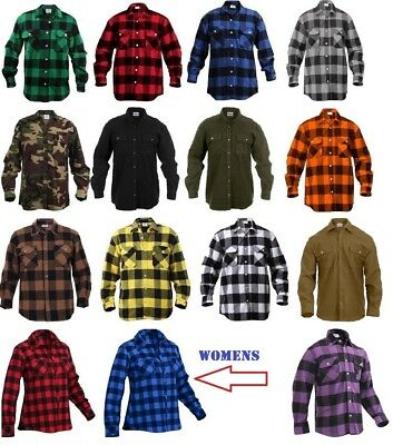 Flannel Shirts Extra Heavyweight Brawny Buffalo Plaid Flannel Shirt Men & Women