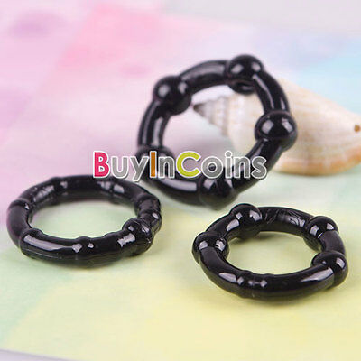 3Pcs Penis Erection Impotence Erectile Disfunction Rings Beaded Soft Best Choice
