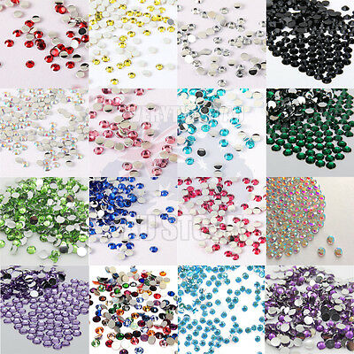 200 Crystal Flatback Rhinestones Colours For Nails Art Tips Craft Decoration 2mm