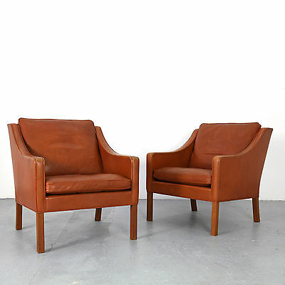 2 Lounge Chairs 2207 by Børge Mogensen for Fredericia 60s | Danish Modern Sessel