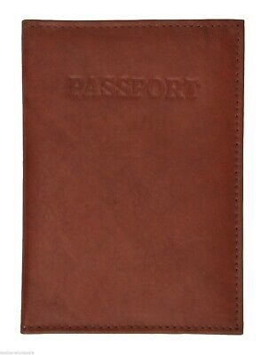 1 Genuine Leather Passport Cover Holder Wallet Case Travel  New
