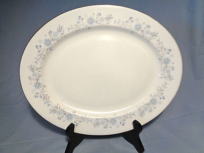 "Aynsley Mayfield 13-5/8"" Blue Floral English Bone China SERVING PLATTER"