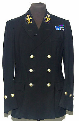 Vintage Double Breasted Royal Navy Class 1 Blazer Jacket 40 Long 1960S