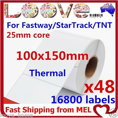 48 Rolls Thermal Direct Labels 100 X 150mm Fastway Startrack 4x6 AusPOST eParcel