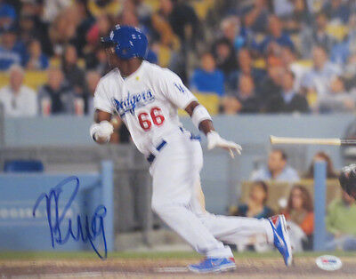 Yasiel Puig Autographed Dodgers 11x14 Signed Baseball Photo PSA DNA COA