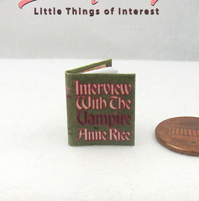 INTERVIEW WITH THE VAMPIRE Readable Miniature Book Dollhouse 1:12 Scale Book
