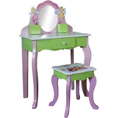 GIRLS PINK DRESSING TABLE VANITY DESK  Fairy Princess themed bedroom furniture