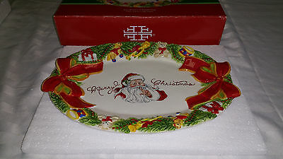 FITZ and FLOYD ~SOUTHERN CHRISTMAS~ CLASSIC SANTA COOKIE PLATTER
