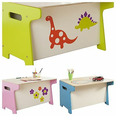 CHILDRENS DESK and TOY BOX COMBINED Dinosaur Princess Themed Bedroom Furniture