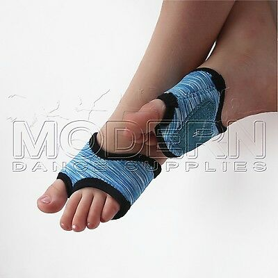 Modern Dance Foot Thongs Foot undies Aqua Blues with Black Trim