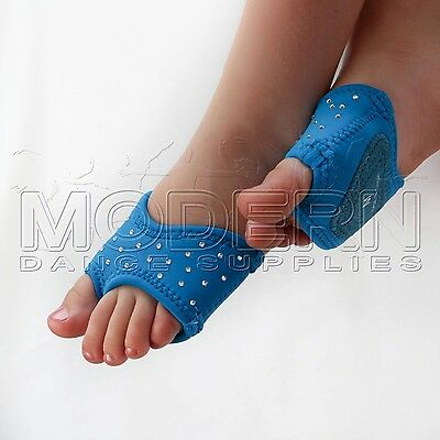 Dance Foot Thongs Foot undies AQUA DIAMANTE